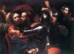 The Taking of Christ Caravaggio 1602 Oil on canvas 52.6 in × 66.7 in National Gallery of Ireland, Dublin