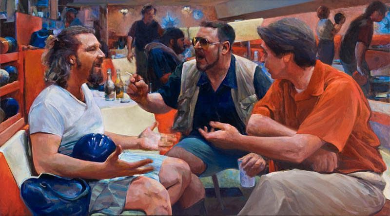 "Oath of the Horatii • Joe Forkan 2006-2010 Oil on Linen 72"" x 40"""