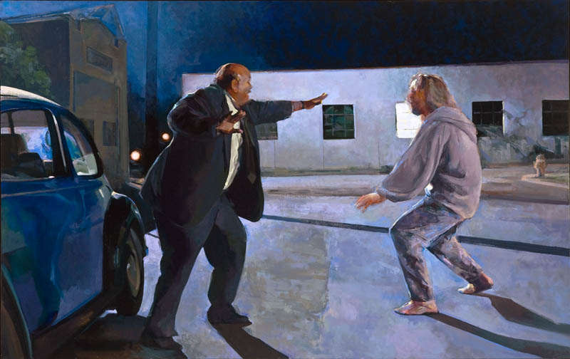 "The Agony in the Garden (After Carracci)• Joe Forkan 2006-2011 oil on linen, 76"" x 48"" (193.04 cm x 121.92)"
