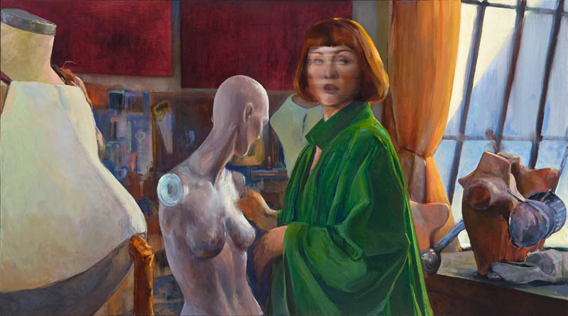 "Sacred and Profane Love (After Titian) • Joe Forkan 2011 oil on linen, 72"" x 40"" (182.88 cm x 101.60 cm)"