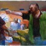 MOCA 10 Forkan_The Taking of Christ_Sketch