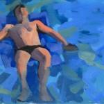 MOCA 10 Sketch for Death of Marat • Joe Forkan 2008 oil on paper