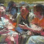 MOCA 11 Oath of the Horatii • Joe Forkan 2007 pastel on paper 24 x 18