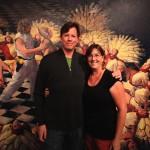 Curator Andrea Harris-McGee and Joe Forkan