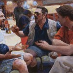 """Oath of the Horatii- reworked study (After David) • Joe Forkan 2012, oil on panel, 38"""" x 21"""""""